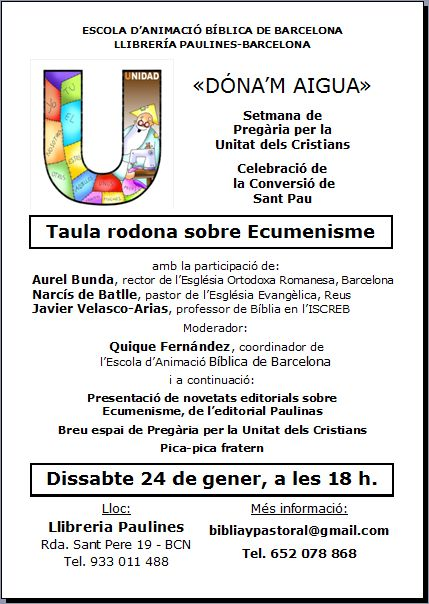 Taula rodona ecumenisme
